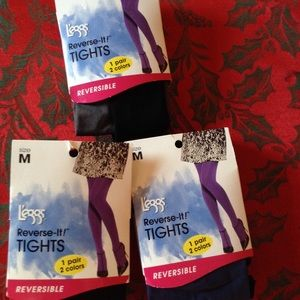 Reversible colored tights bundle